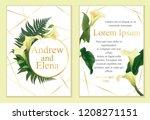 template for wedding invitation ... | Shutterstock .eps vector #1208271151