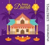 diwali deepavali vector... | Shutterstock .eps vector #1208275921