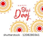 happy bhai dhooj  colorful... | Shutterstock .eps vector #1208280361