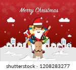merry christmas and santa claus ... | Shutterstock .eps vector #1208283277