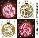 christmas lettering in the... | Shutterstock .eps vector #1208284804