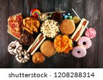 unhealthy products. food bad... | Shutterstock . vector #1208288314