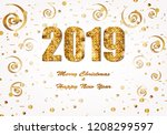 new year and christmas festive... | Shutterstock .eps vector #1208299597