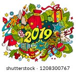2019 new year picture. 2019... | Shutterstock .eps vector #1208300767