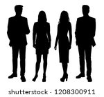 vector silhouettes men and... | Shutterstock .eps vector #1208300911