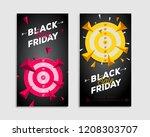 two black friday flyer... | Shutterstock .eps vector #1208303707