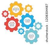 cogwheel numbered option... | Shutterstock .eps vector #1208304487