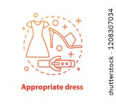 appropriate dress concept icon. ... | Shutterstock .eps vector #1208307034