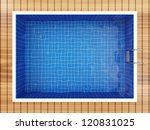 Spa Pool Interior Top View - stock photo