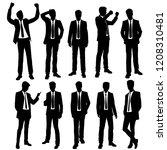 vector silhouettes men standing ... | Shutterstock .eps vector #1208310481