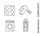 household appliance linear... | Shutterstock .eps vector #1208313247