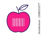 product barcode color icon.... | Shutterstock .eps vector #1208313277