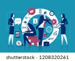 office work. concept   time.... | Shutterstock .eps vector #1208320261