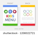 creative kids restaurant menu... | Shutterstock .eps vector #1208322721