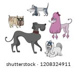 cartoon pictures of dog ... | Shutterstock .eps vector #1208324911