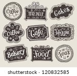 vector set of doodle labels | Shutterstock .eps vector #120832585