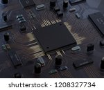 central computer processors cpu ... | Shutterstock . vector #1208327734