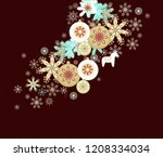 christmas background with... | Shutterstock .eps vector #1208334034