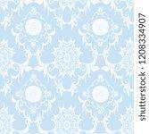 seamless wallpaper pattern.... | Shutterstock .eps vector #1208334907