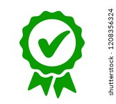 approval check icon  quality... | Shutterstock .eps vector #1208356324