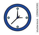 round clock time on white...   Shutterstock .eps vector #1208365381