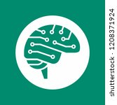 cyber brain side view icon  ai... | Shutterstock .eps vector #1208371924