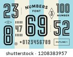 numbers font. sport font with... | Shutterstock . vector #1208383957