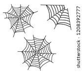 spiderweb vector. spooky corner ...   Shutterstock .eps vector #1208392777