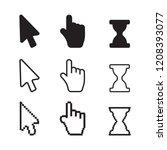 arrow web cursors. arrow cursor ... | Shutterstock .eps vector #1208393077