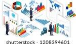 businessman in business... | Shutterstock . vector #1208394601
