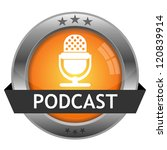 vector button podcast | Shutterstock .eps vector #120839914