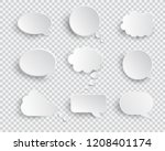 white blank speech bubbles... | Shutterstock .eps vector #1208401174