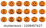 vector illustration set from... | Shutterstock .eps vector #1208407627