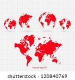 world map | Shutterstock .eps vector #120840769