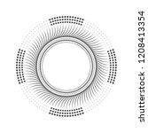 decorative round frame for... | Shutterstock .eps vector #1208413354