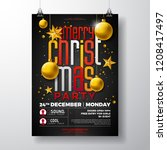 christmas party flyer... | Shutterstock .eps vector #1208417497