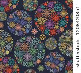 christmas pattern  colorful... | Shutterstock .eps vector #1208420851
