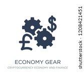 economy gear icon. trendy flat...   Shutterstock .eps vector #1208421451