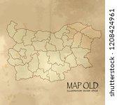 bulgaria on the map of balkans... | Shutterstock .eps vector #1208424961