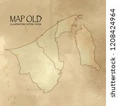 brunei darussalam on the map of ... | Shutterstock .eps vector #1208424964