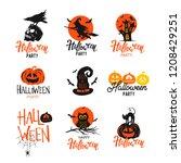 halloween elements.vector... | Shutterstock .eps vector #1208429251