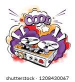 vintage recording equipment.... | Shutterstock .eps vector #1208430067