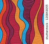 colorful doodle waves... | Shutterstock .eps vector #120843055