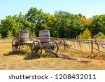Old Wooden Wagon Loaded With...