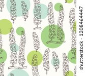 seamless pattern with caulerpa  ... | Shutterstock .eps vector #1208464447