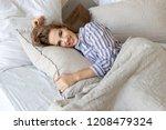 portrait of cheerful happy... | Shutterstock . vector #1208479324