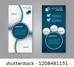 narrow flyer and leaflet design.... | Shutterstock .eps vector #1208481151