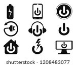computer power icons set | Shutterstock .eps vector #1208483077