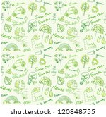 eco vector set seamless pattern | Shutterstock .eps vector #120848755