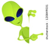 cartoon character funny alien... | Shutterstock .eps vector #120849031